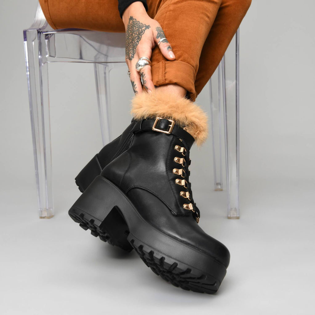 NOMAD Fur Chunky Boots view 4