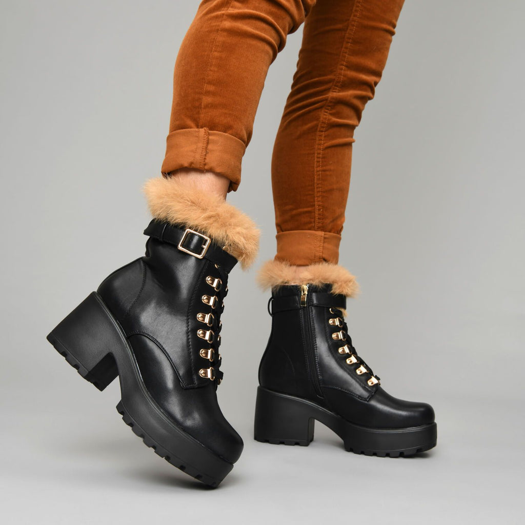 NOMAD Fur Chunky Boots view 5