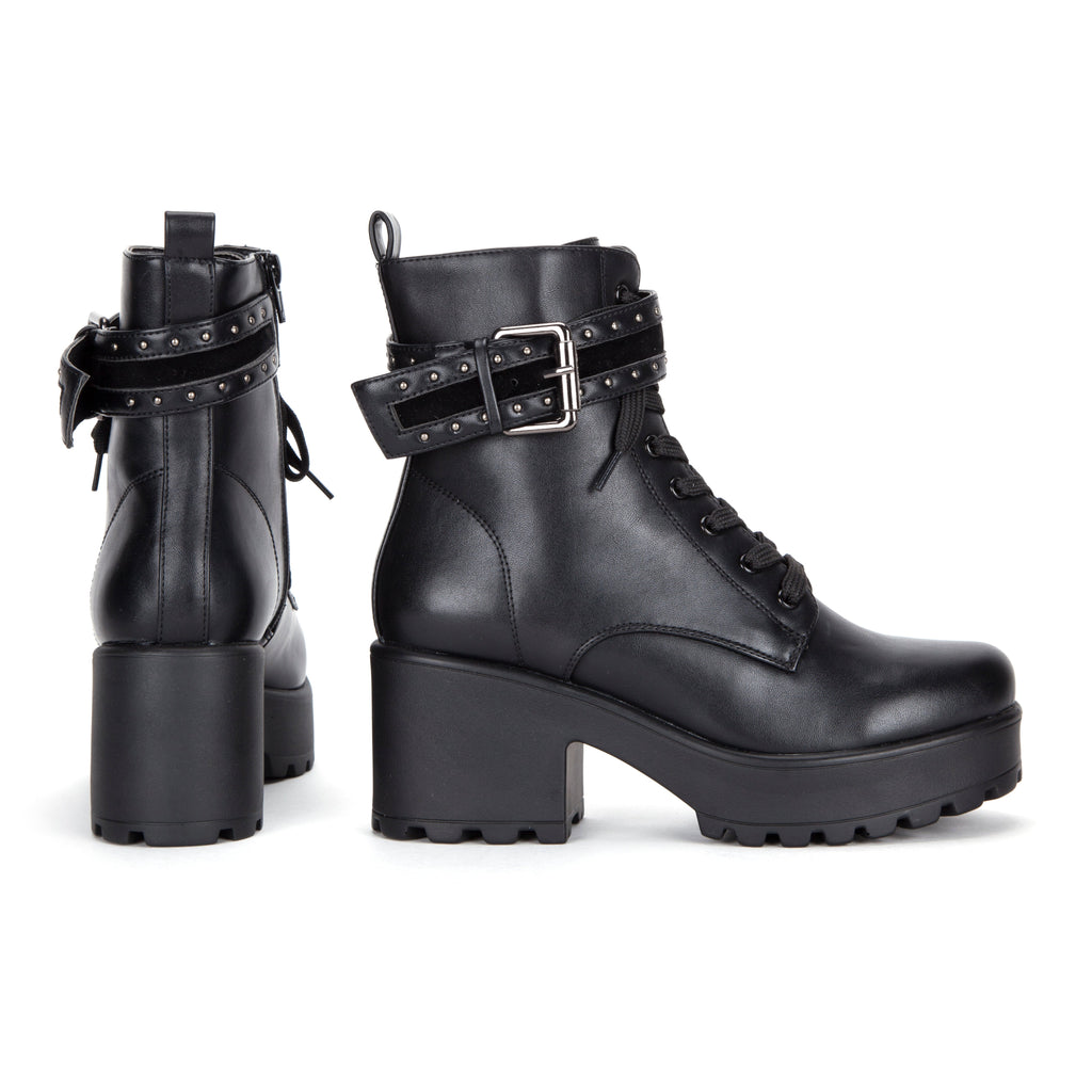 ALTAR Studded Strap Chunky Boots view 3
