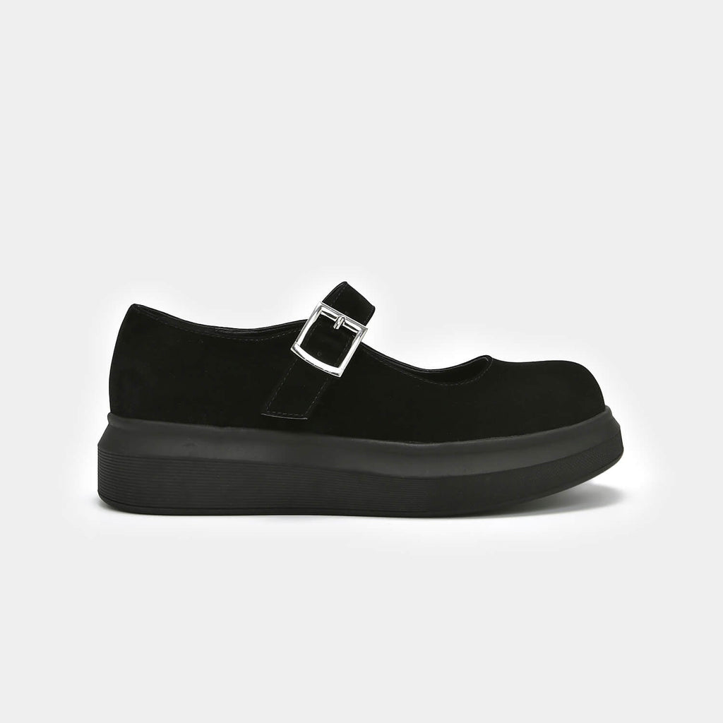 Dreamhorserecords Footwear Umbar Vice Suede Mary Janes Vegan Black Mary Janes view 5
