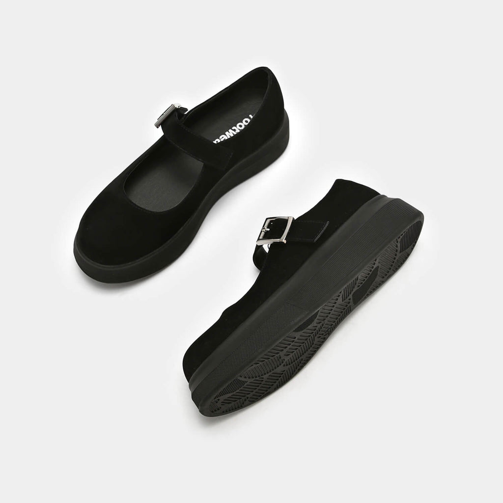 Dreamhorserecords Footwear Umbar Vice Suede Mary Janes Vegan Black Mary Janes view 3