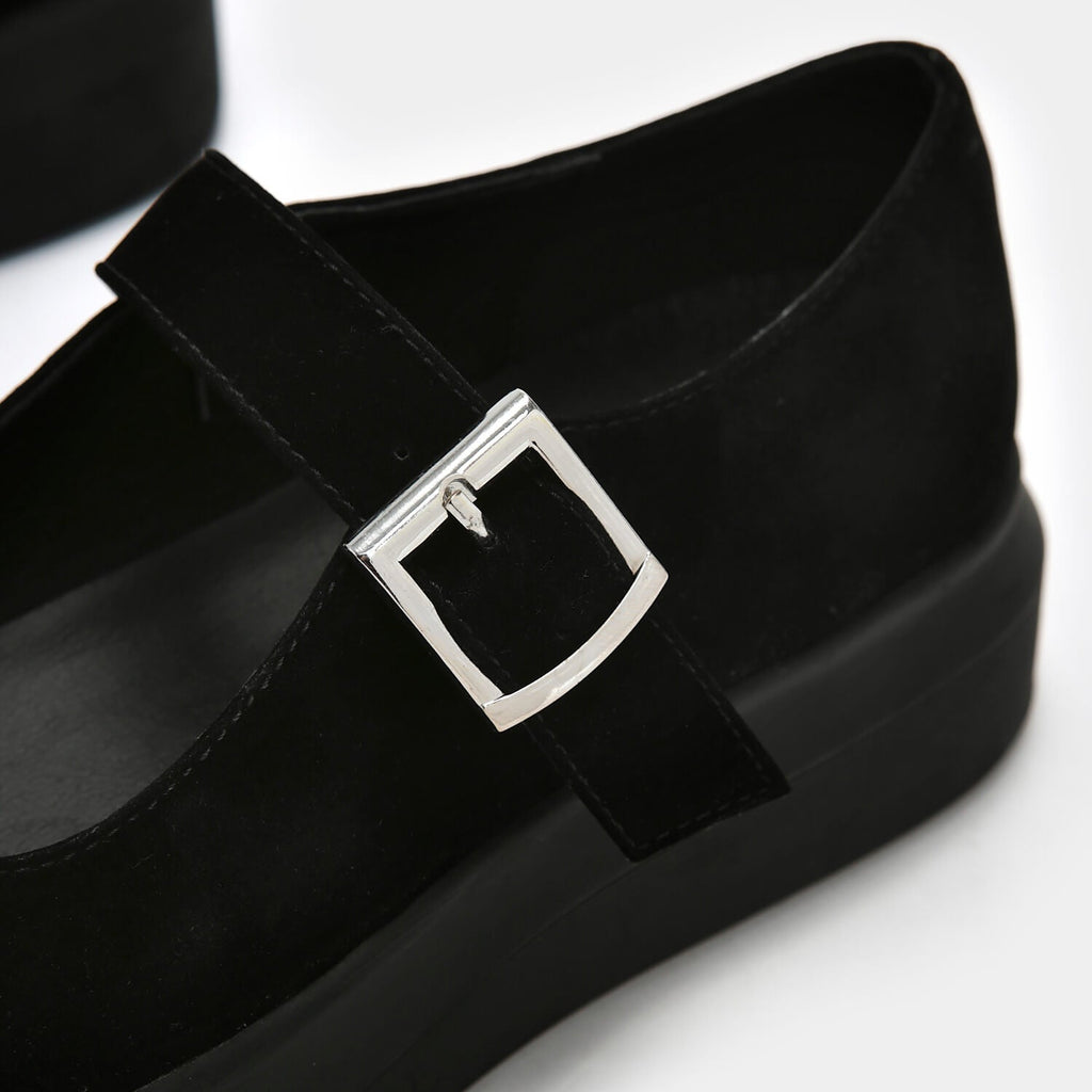 Dreamhorserecords Footwear Umbar Vice Suede Mary Janes Vegan Black Mary Janes view 2