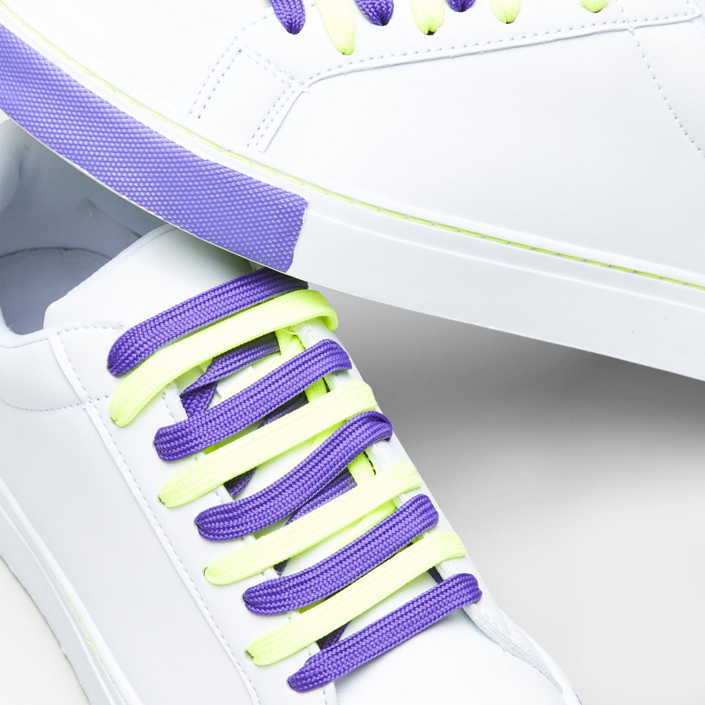 White PSILO Psychedelic Neon Trainers 4 view 4