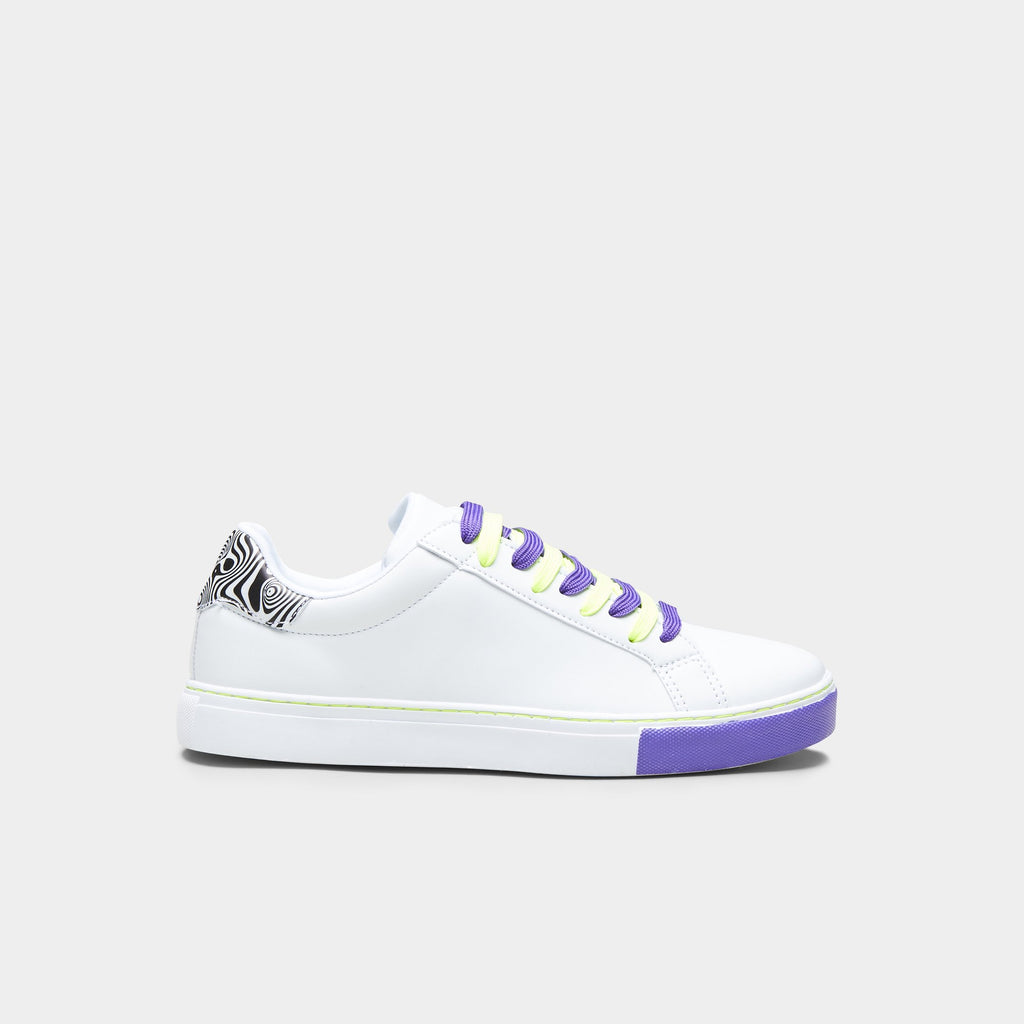 White PSILO Psychedelic Neon Trainers 1