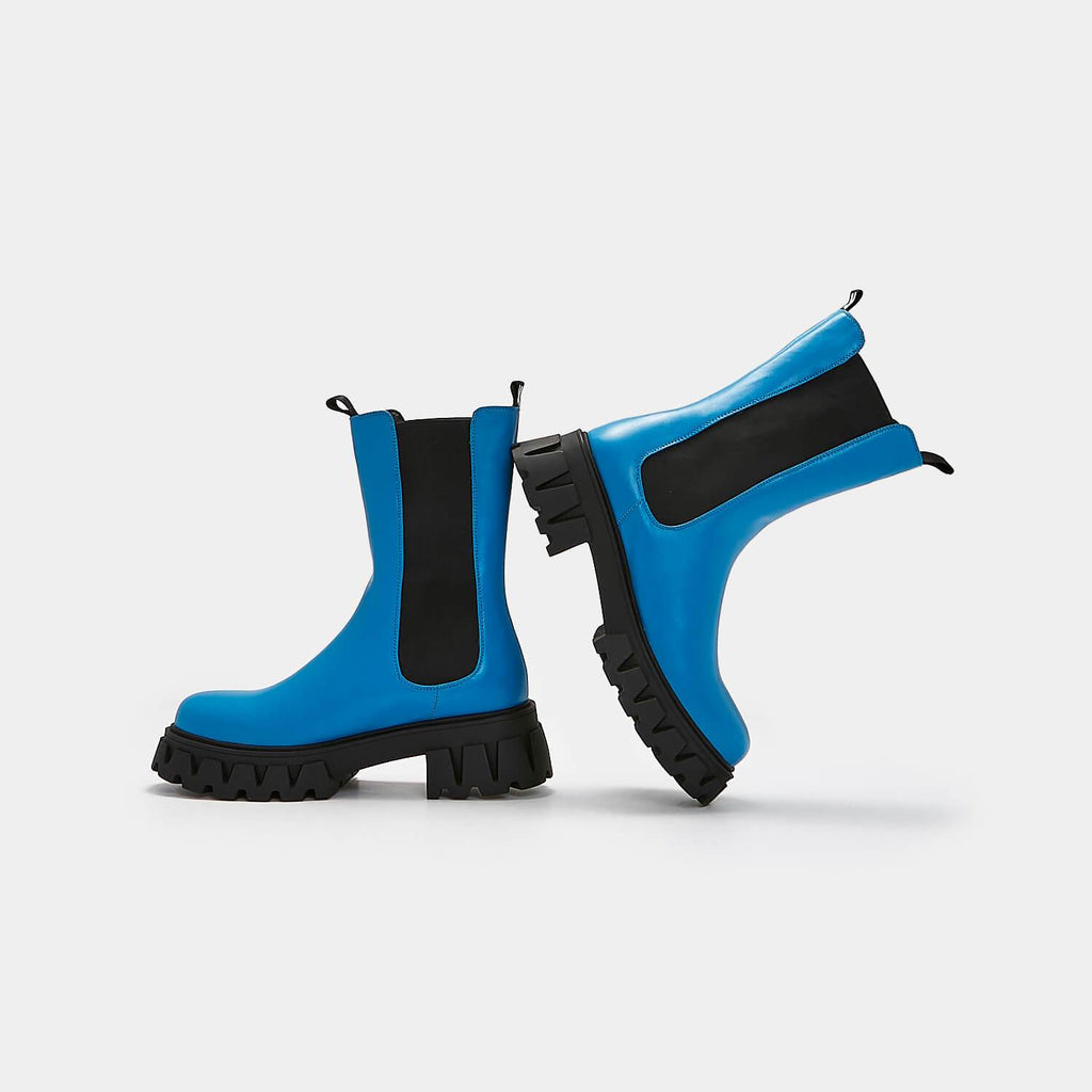 KOI Footwear Sentry Tall Men's Blue Chelsea Boots Vegan Men's Chelsea Boots view 2