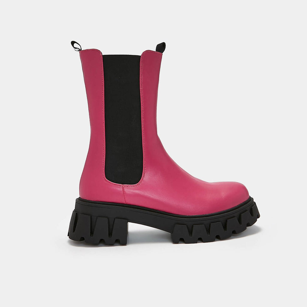 KOI Footwear Sentry Tall Fuchsia Chelsea Boots Vegan Chelsea Boots view 2