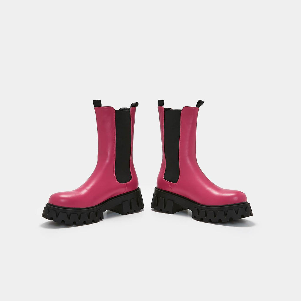 KOI Footwear Sentry Tall Fuchsia Chelsea Boots Vegan Chelsea Boots view 6