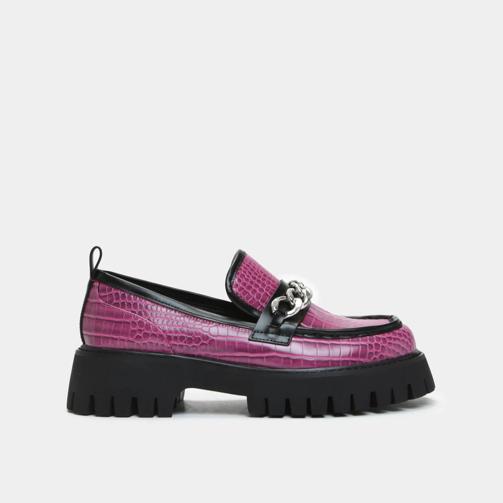 ZODY Footwear Shenron Pink Croc Loafers Vegan Loafers view 4