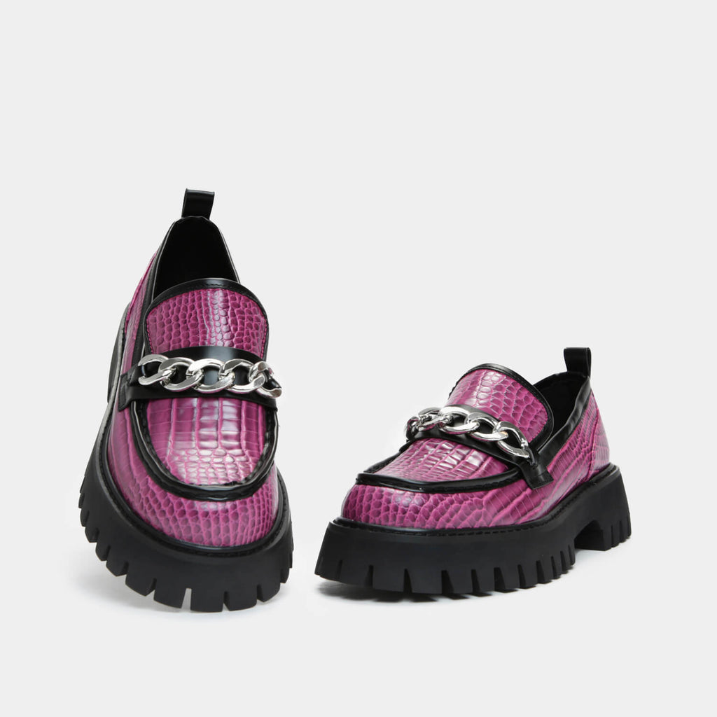 ZODY Footwear Shenron Pink Croc Loafers Vegan Loafers view 2