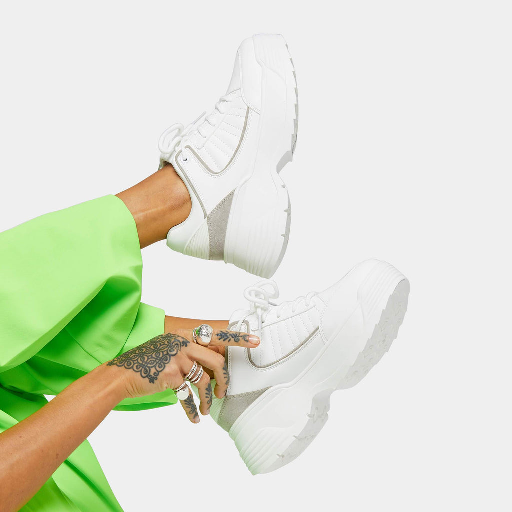 SIND White Extra Chunky Trainers 1