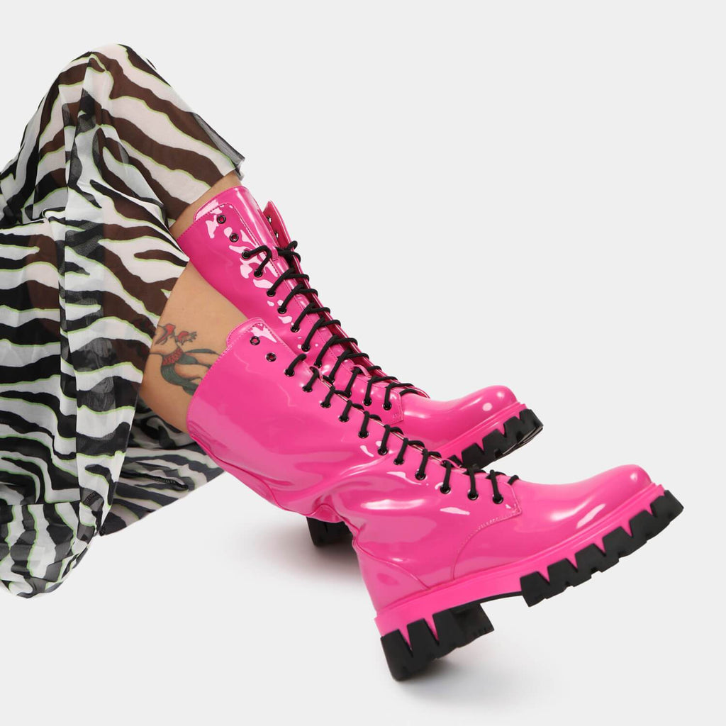 KOI Footwear Trinity Pink Knee High Boots Vegan Knee High Boots view 2