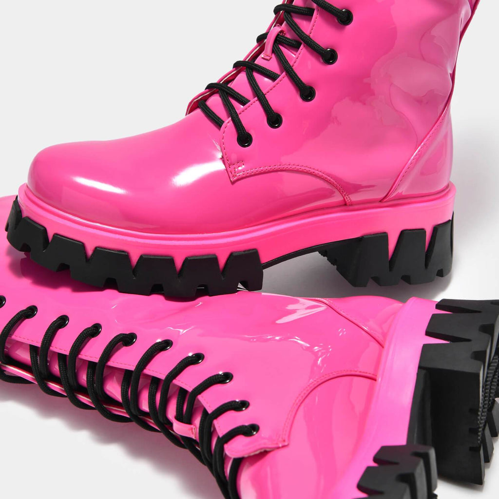 KOI Footwear Trinity Pink Knee High Boots Vegan Knee High Boots view 5