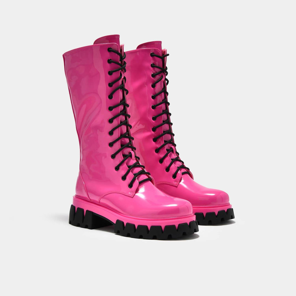 KOI Footwear Trinity Pink Knee High Boots Vegan Knee High Boots view 3