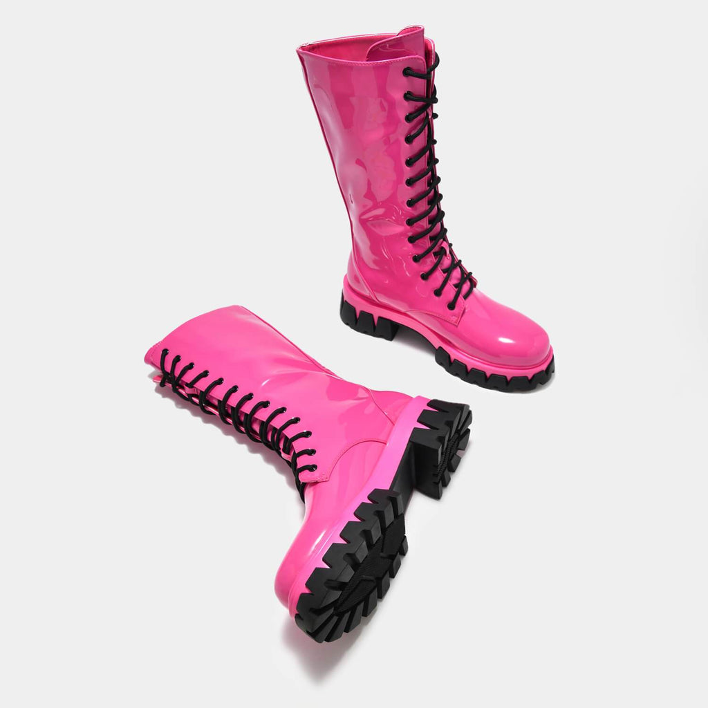 KOI Footwear Trinity Pink Knee High Boots Vegan Knee High Boots view 4