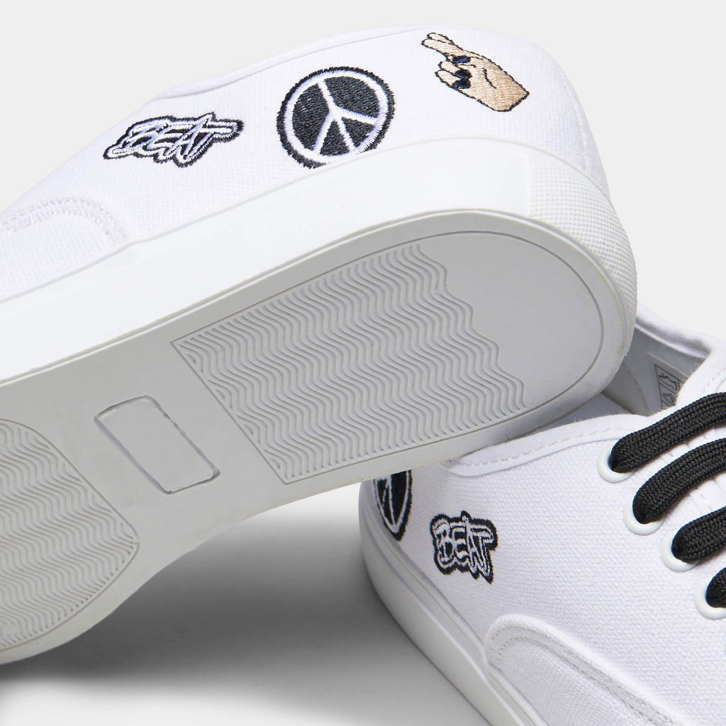 White VISH Peace Canvas Trainers 5 view 5