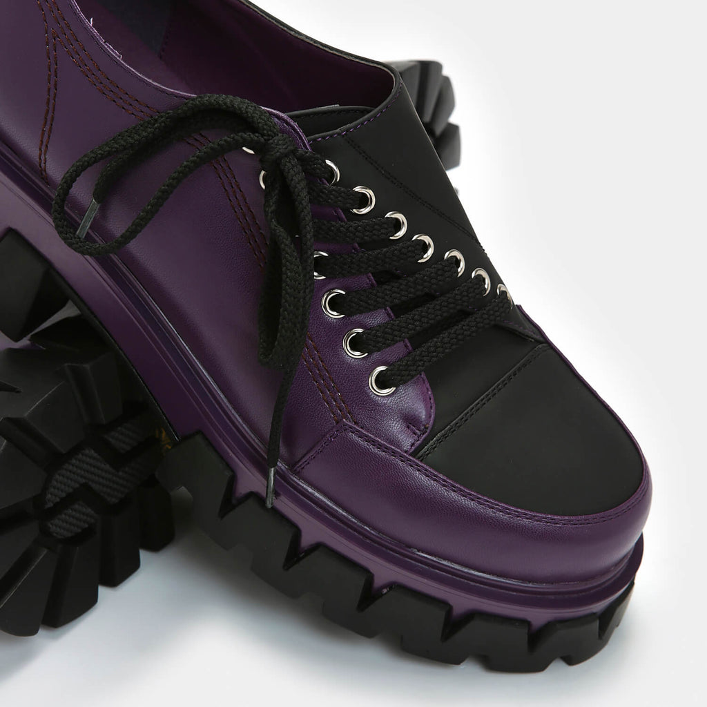 KOI Footwear The Twister Purple Shoes Vegan Chunky Platform Shoes view 2
