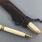 Bamboo Ballpoint Pen shown with sueded sleeve