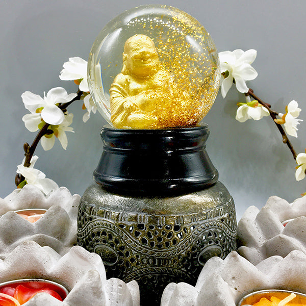 Instant Happiness Buddha Snow Globe