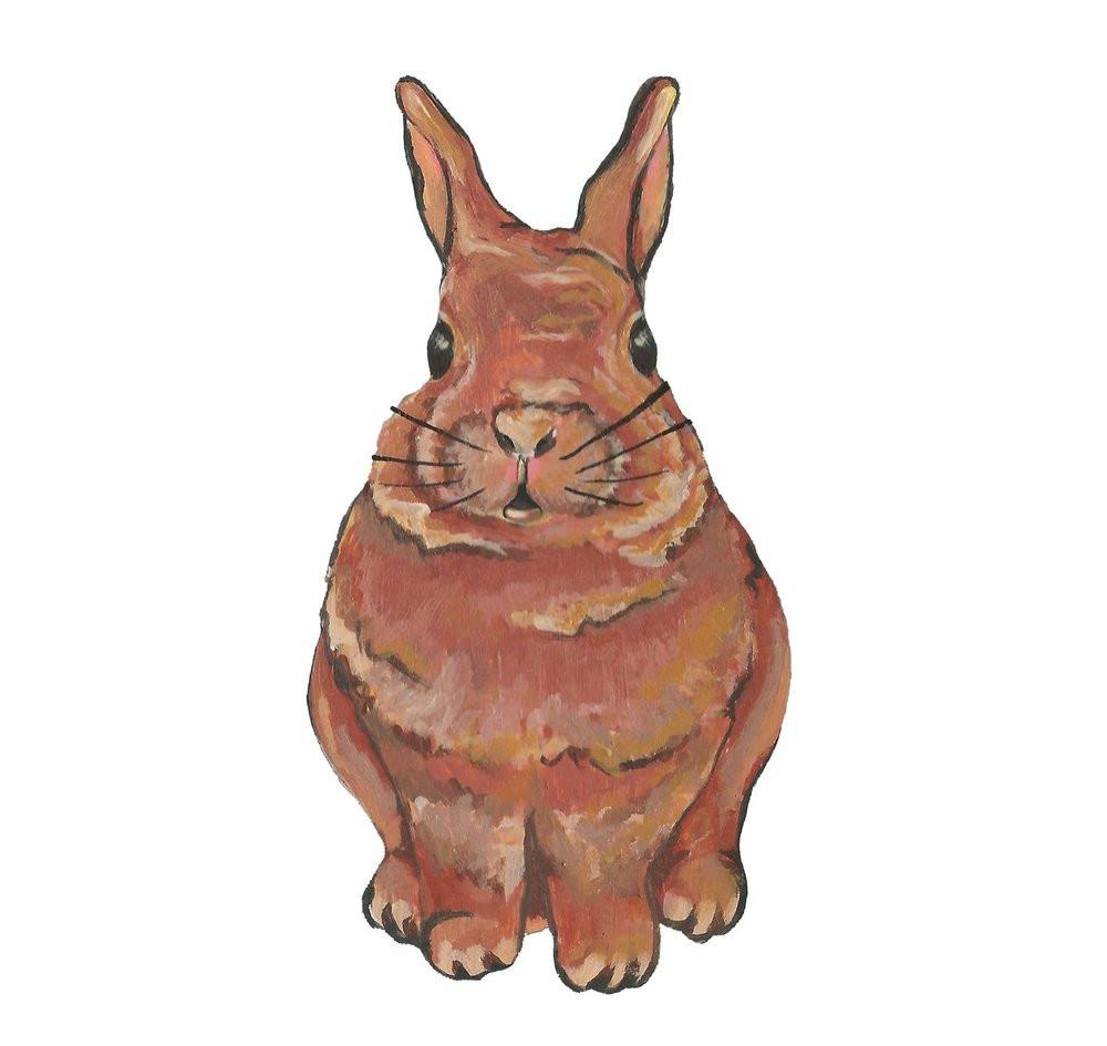 Cocoa Rabbit Removable Wall Decal