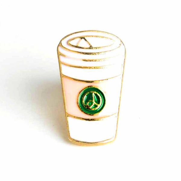 Cafe To-Go Cup Enamel PIn