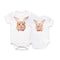 Beyond Organic When Guinea Pigs Fly Baby Bums Bodysuit Front and Back