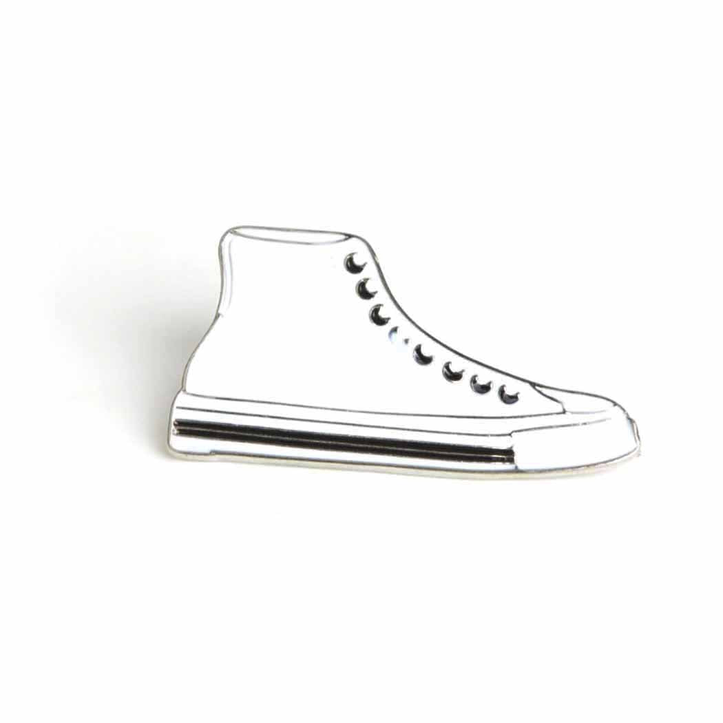 White High Tops Enamel Pin