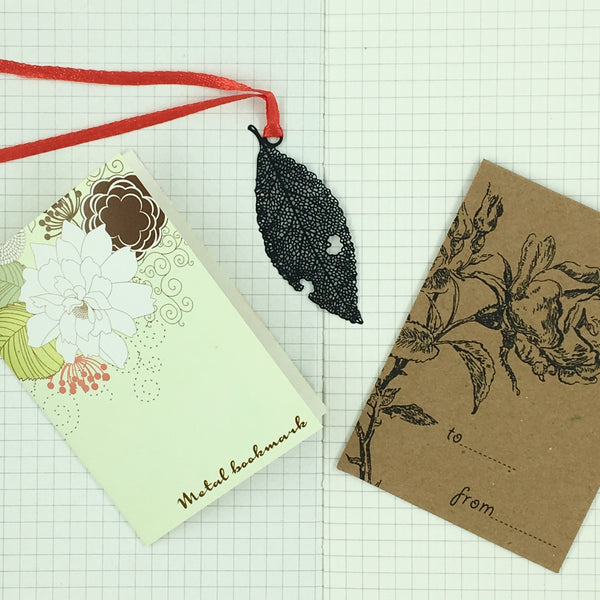 Metal Beech Leaf Bookmark