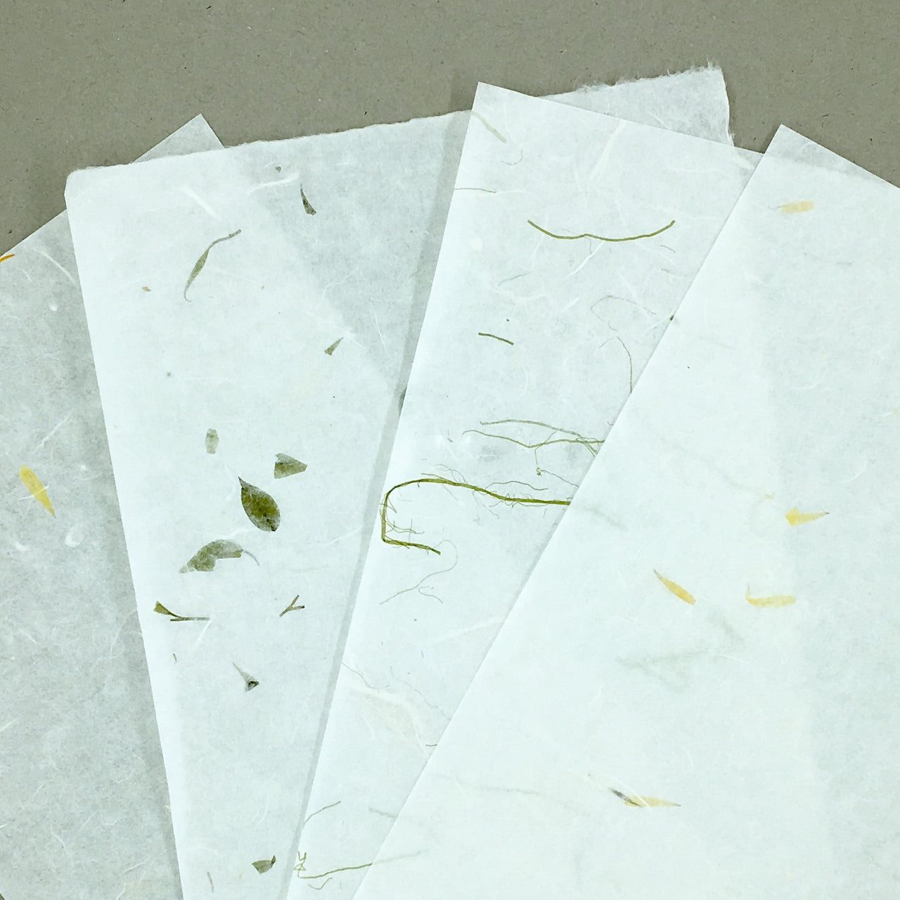 Natural Fiber Letter Paper Shown in various styles