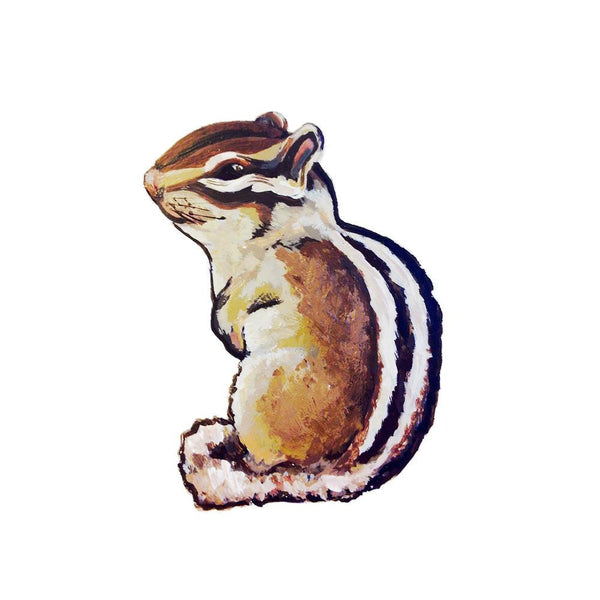 sitting chipmunk removable wall decal