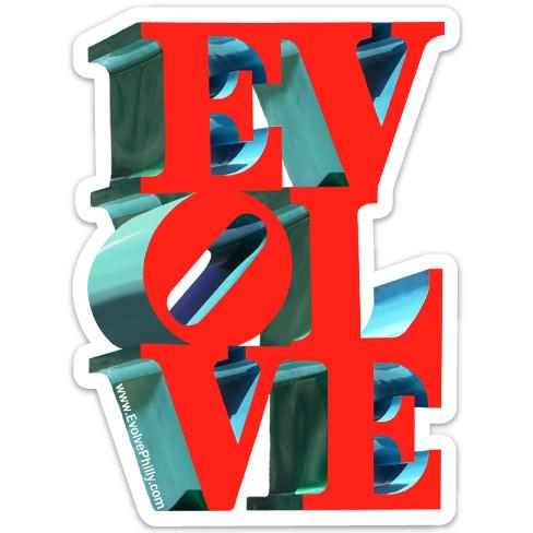 Evolve Love Park Bumper Sticker Magnet