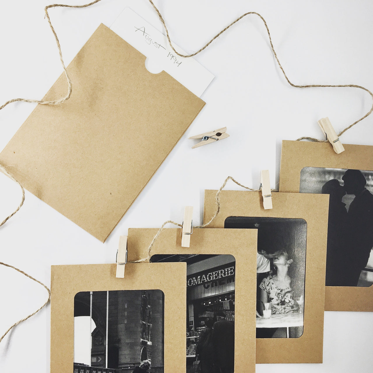 Sweet & Simple Photo Garland KonMari Picture Organizing