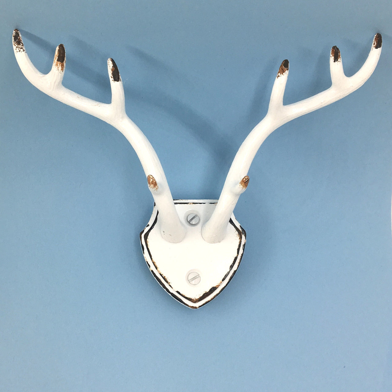 White Antler Wall Hook