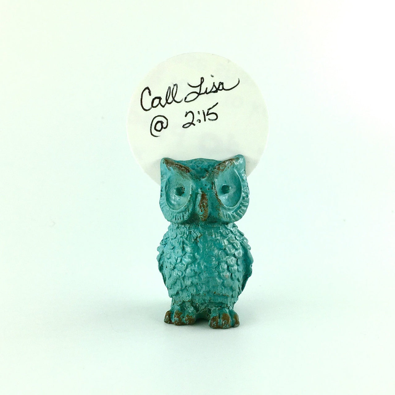Owl Metal Note Keeper