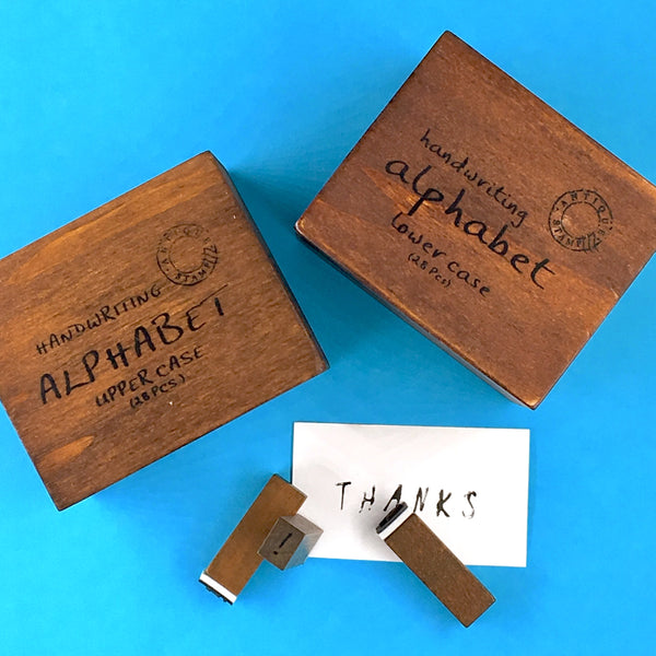 Wooden Letter Stamp Set with gift box