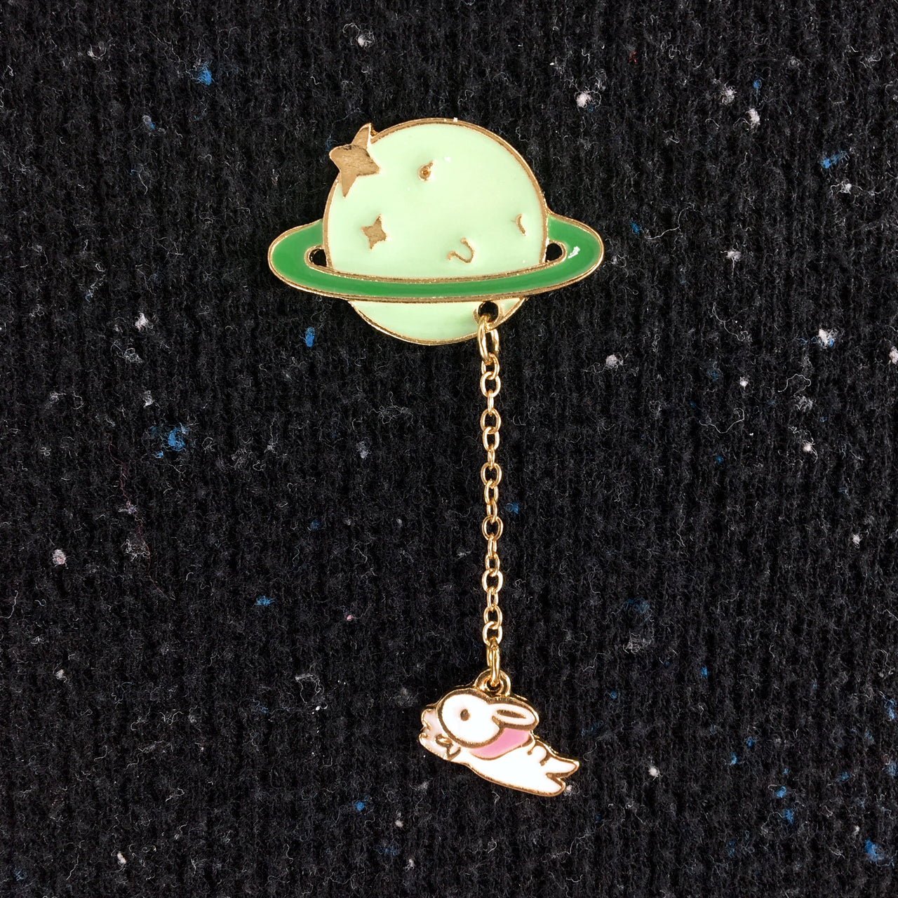 Space Rabbit Enamel Pin
