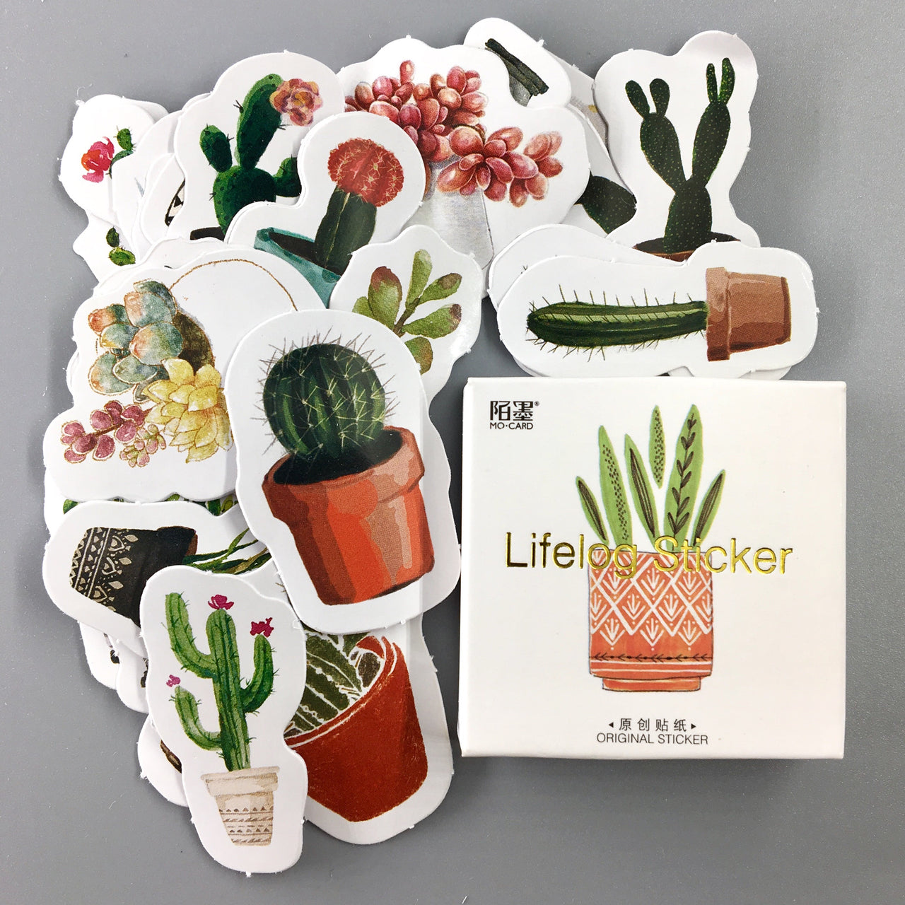 Cactus Flake Stickers