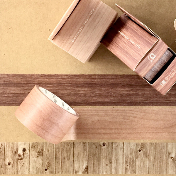 Wood Grain Washi Tape shown in three styles