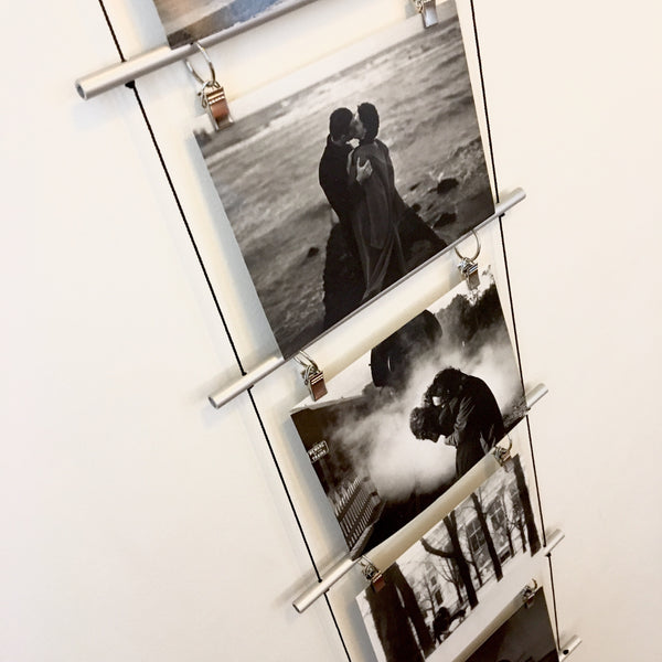Photo Ladder Clip Display - KonMari picture organizing