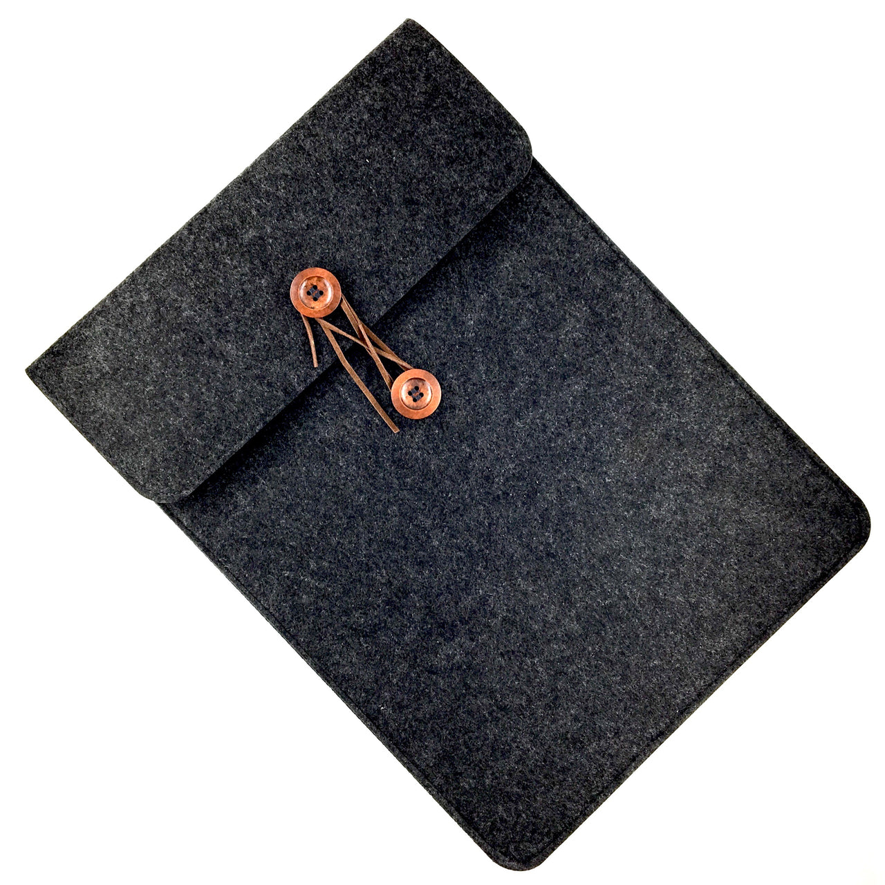 Felted Tablet Sleeve shown in Charcoal