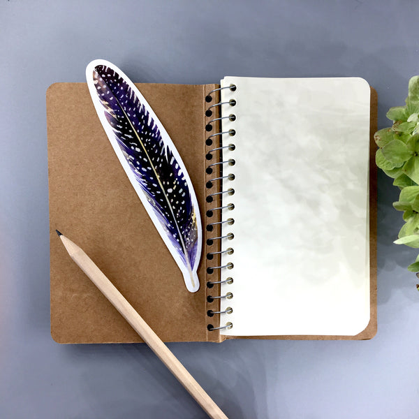 Kraft Spiral Bound Notebook shown open with bookmark