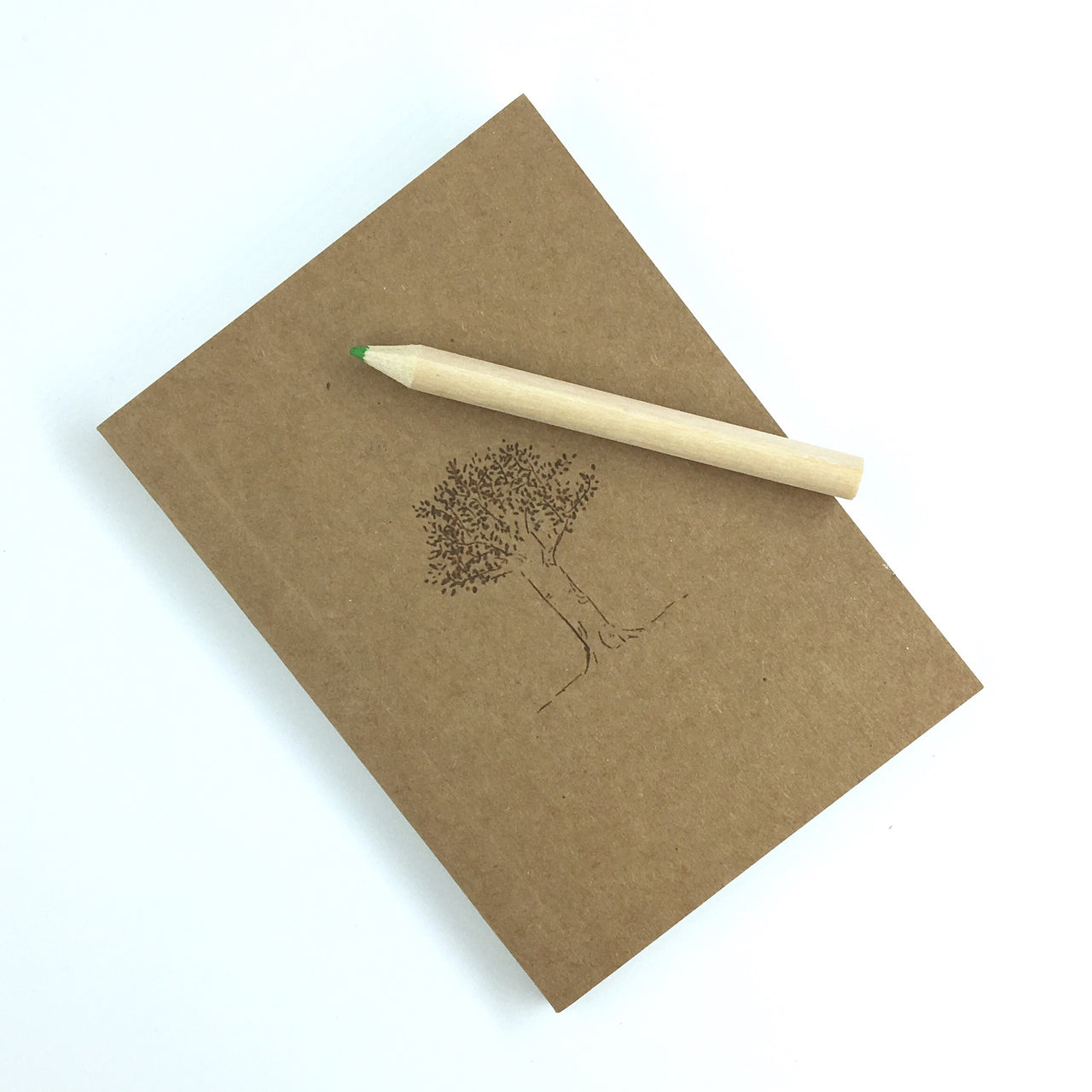 Inked Pocket Sketchbook shown with tree patter