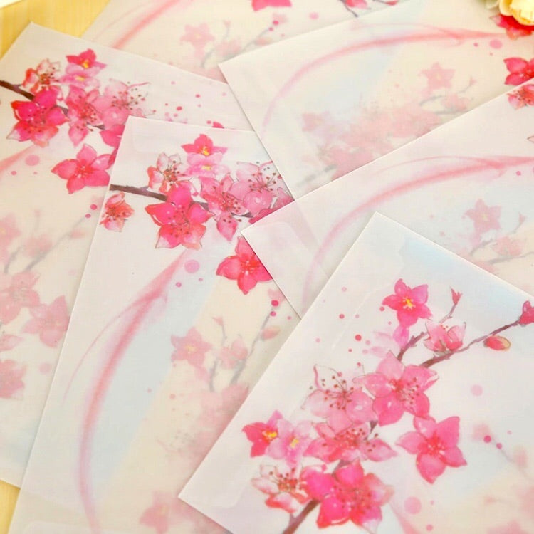 Vellum Blossom Envelopes