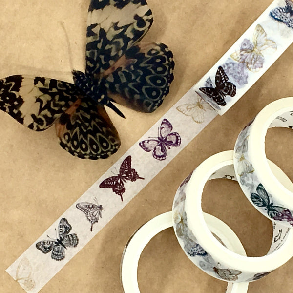 Antiqued Butterfly Washi Tape