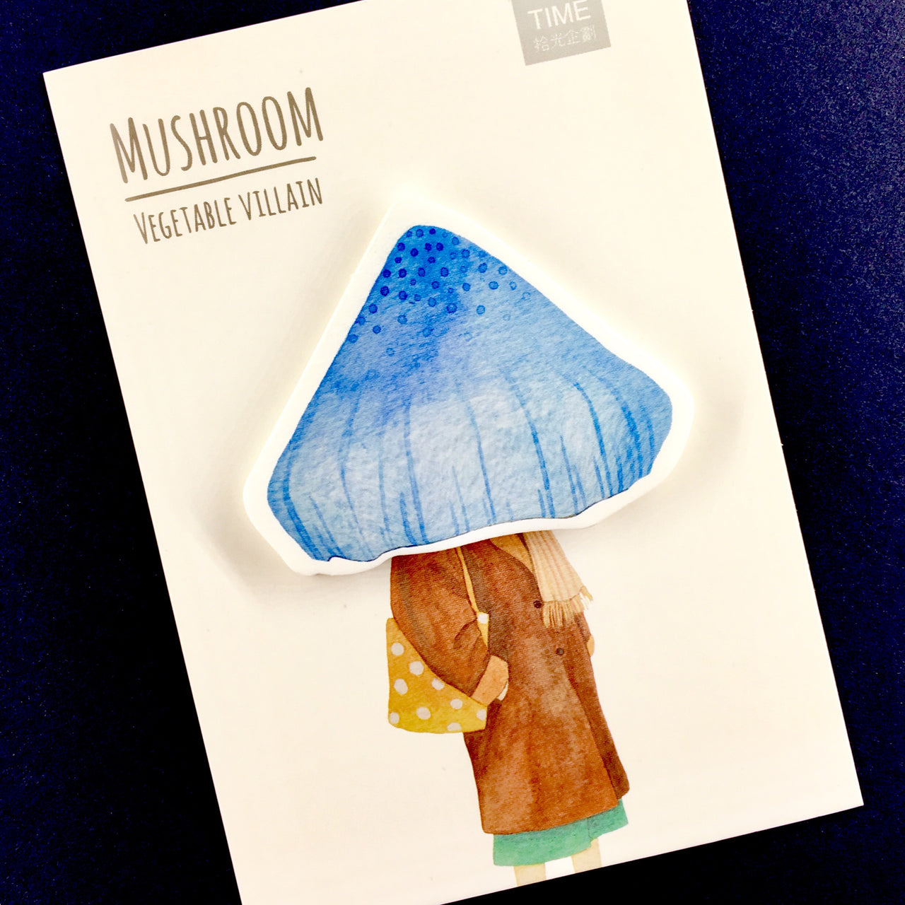 Vegetable Villain Sticky Notes shown in mushroom style