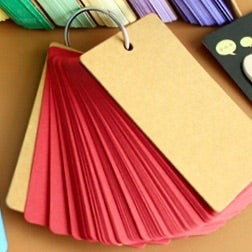 Colorful Memo Pad with Ring in red