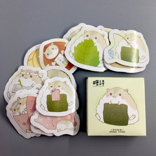 Japanese Hamster Flake Stickers