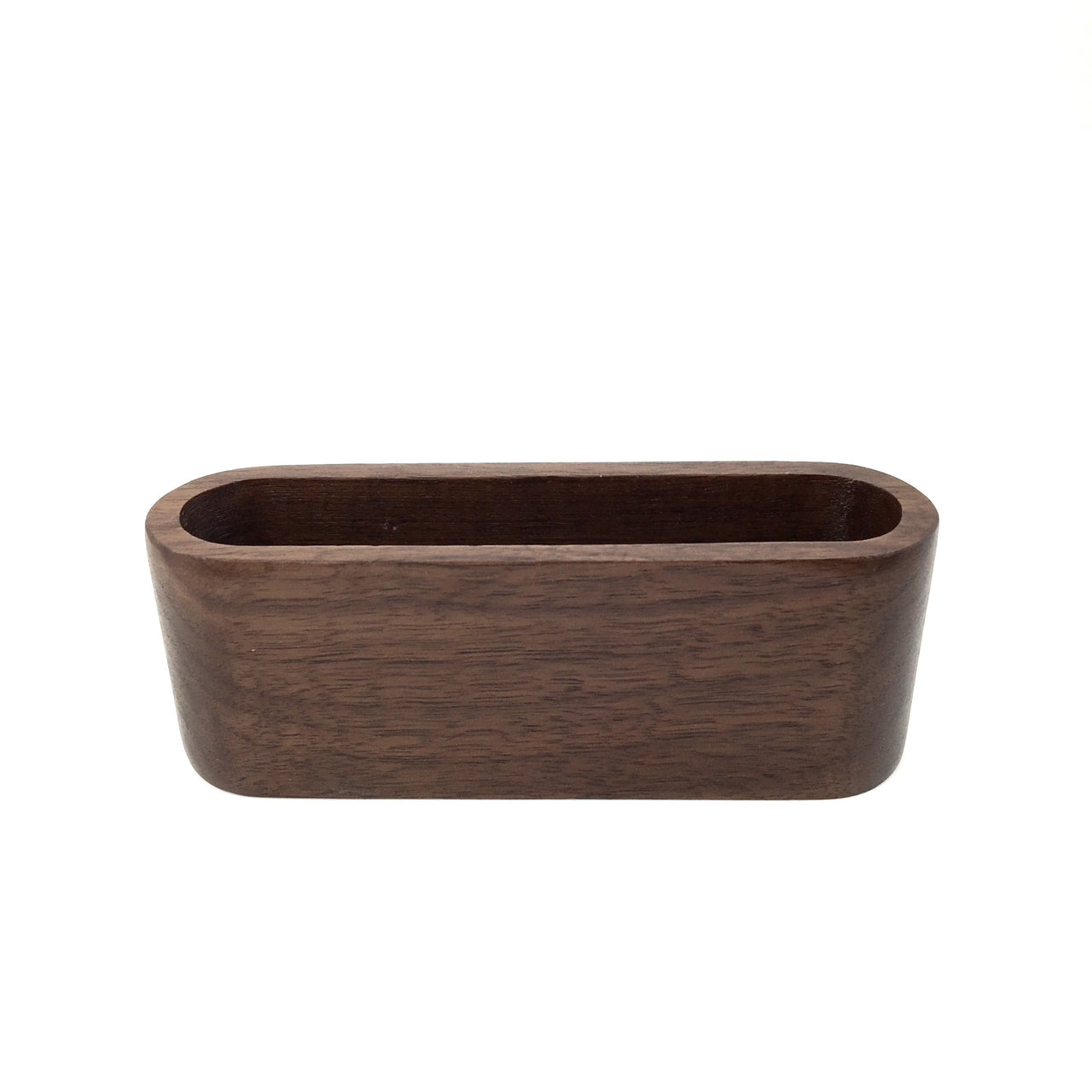 Oval Wood KonMari Desk Organizing Container