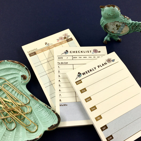 Songbird Sticky Note Memo Pads