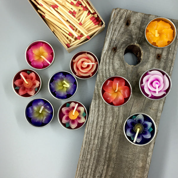 Handmade Flower Tea Light Candles