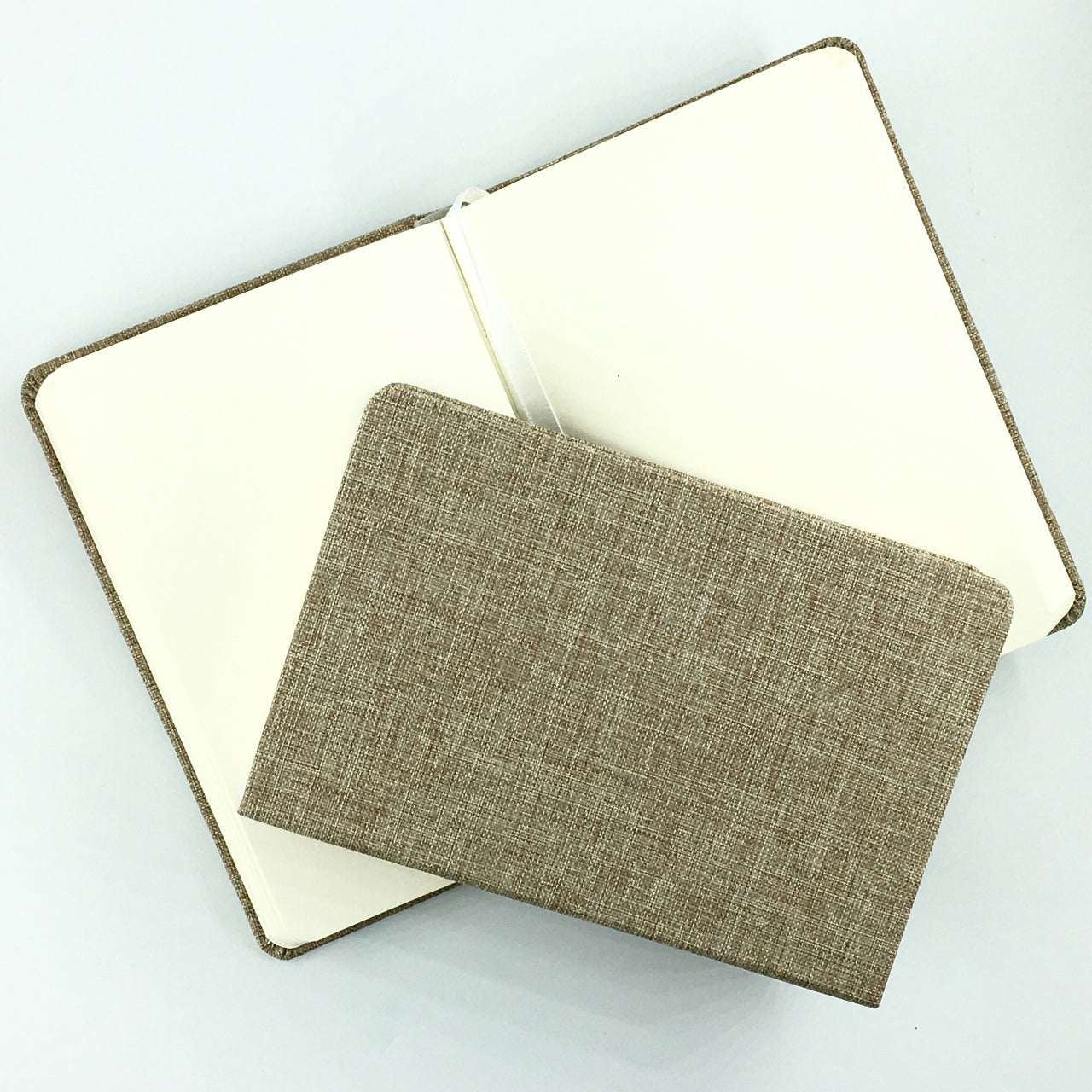 Cloth Pocket Notebook shown in Sand